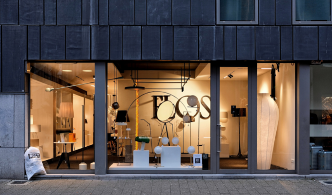 Open-backed shop window
